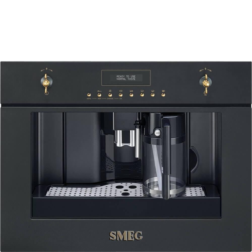 Smeg Einbau-Kompakt-Kaffeevollautomat CMS8451A Nostalgie Anthrazit 60x45 cm