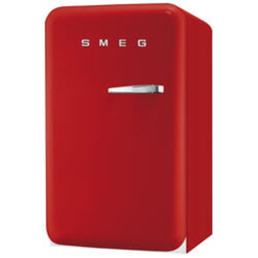 SMEG 50's Retro Style, Standkühlschrank mit 4****Gefrierfach, 60 cm Rot, Linksanschlag, Energieeffizienzklasse A+