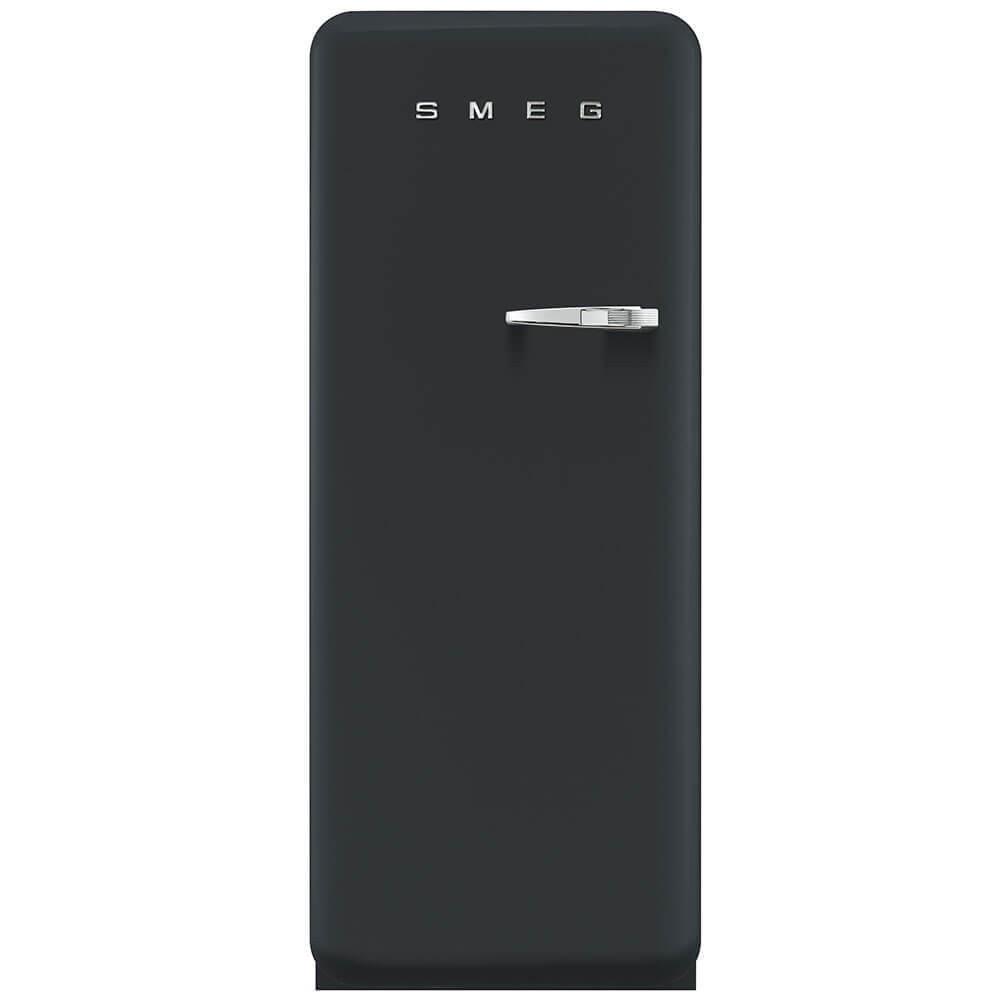 Smeg Standkühlschrank FAB28LBV3 50`s Retro Style 4**** Gefrierfach Energieeffizienzklasse A++ Linksanschlag Black Velvet 60cm