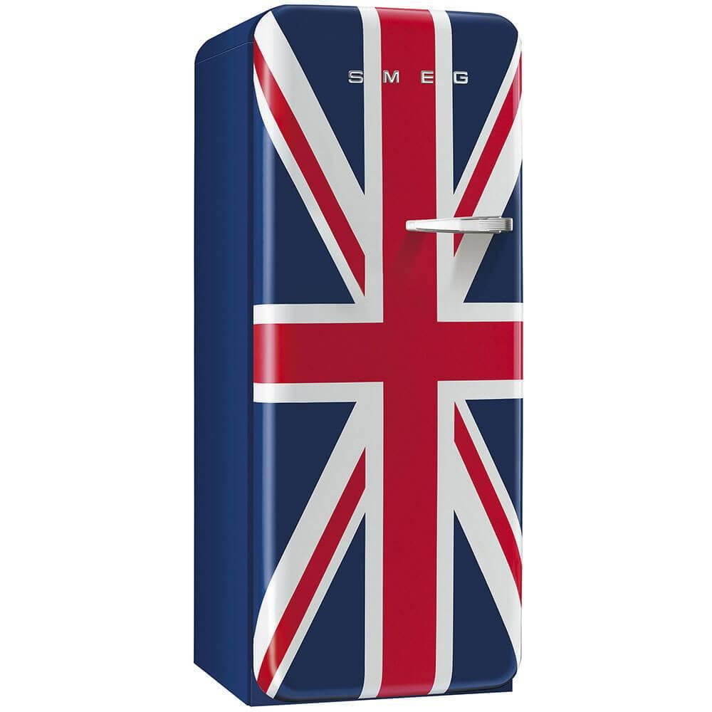 Smeg Standkühlschrank FAB28LUJ1 50`s Retro Style 4**** Gefrierfach Energieeffizienzklasse A++ Linksanschlag Union Jack 60cm