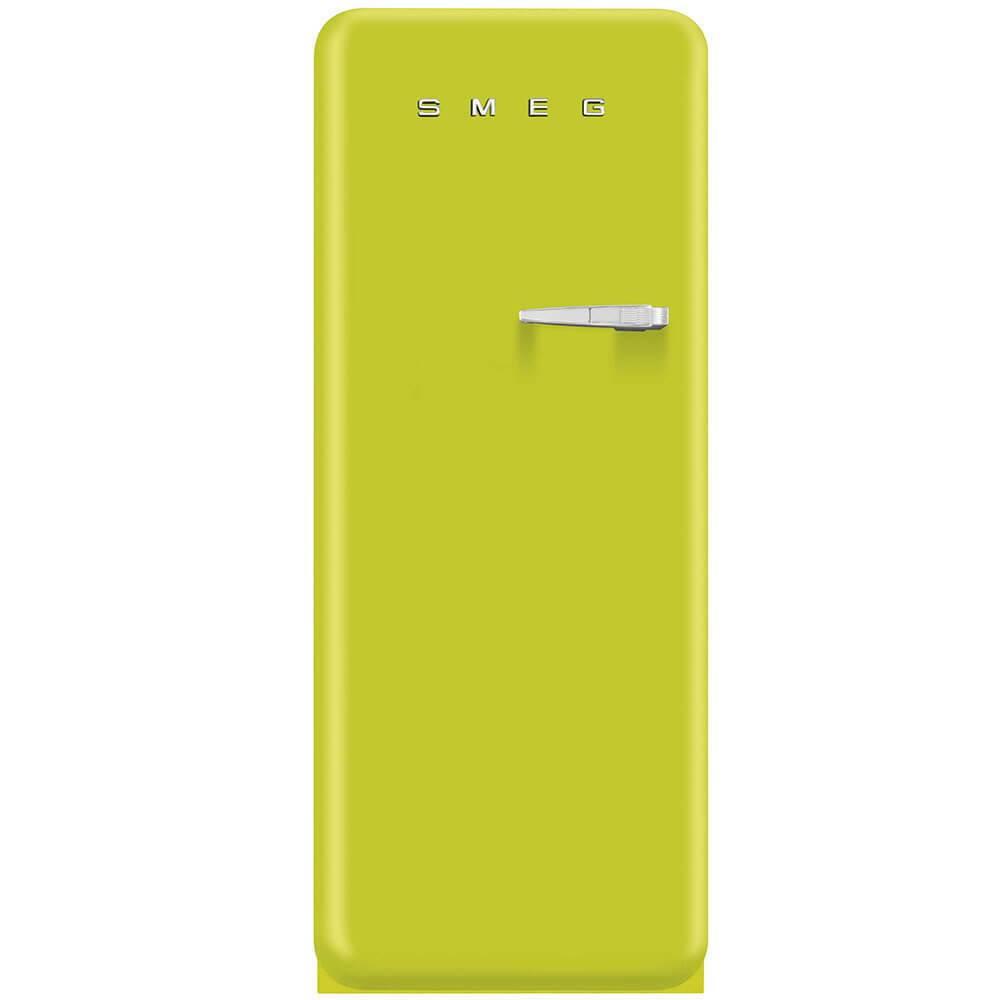 Smeg Standkühlschrank FAB28LVE1 50's Retro Style 4**** Gefrierfach Energieeffizienzklasse A++ Linksanschlag Apfelgrün 60 cm