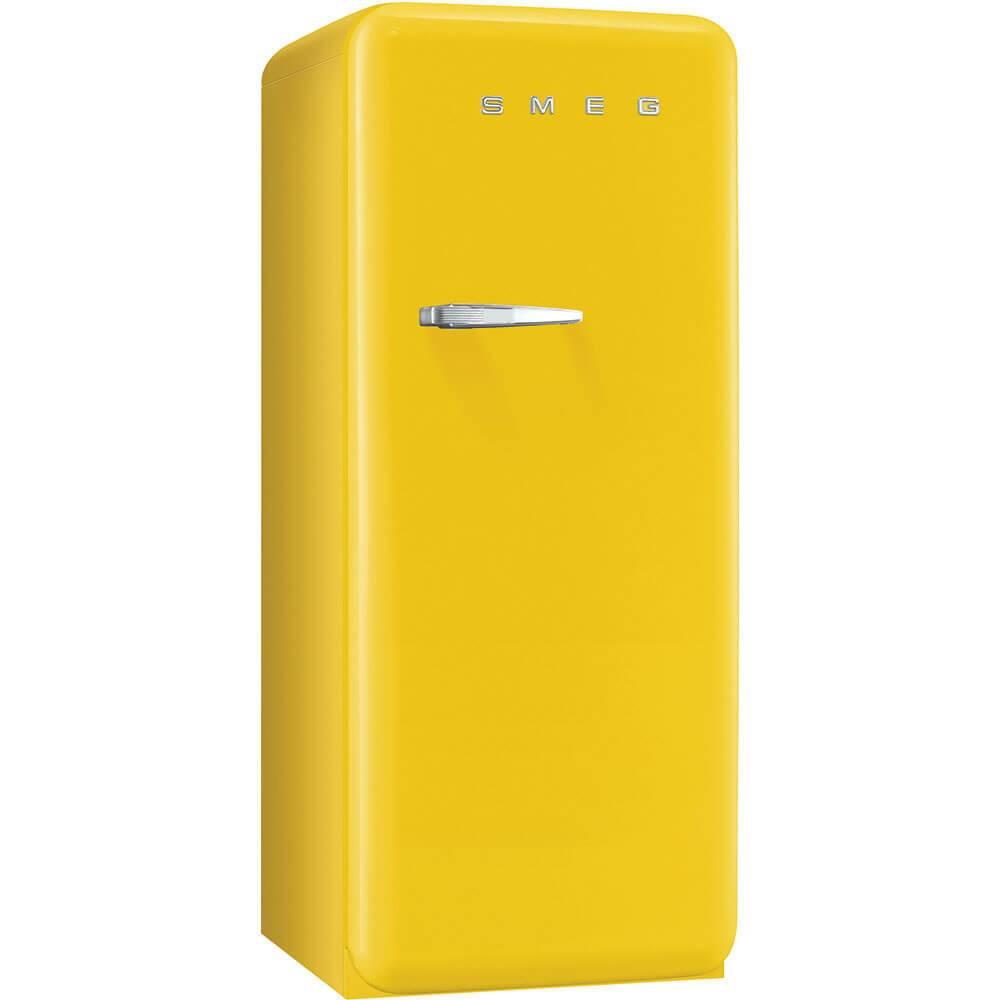 Smeg Standkühlschrank FAB28RG1 50's Retro Style 4**** Gefrierfach Energieeffizienzklasse A++ Rechtsanschlag Sonnengelb 60 cm