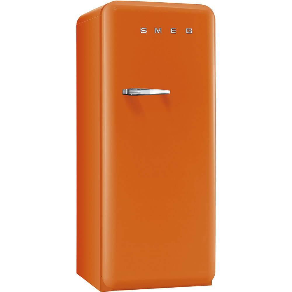 Smeg Standkühlschrank FAB28RO1 50's Retro Style 4**** Gefrierfach Energieeffizienzklasse A++ Rechtsanschlag Orange 60 cm