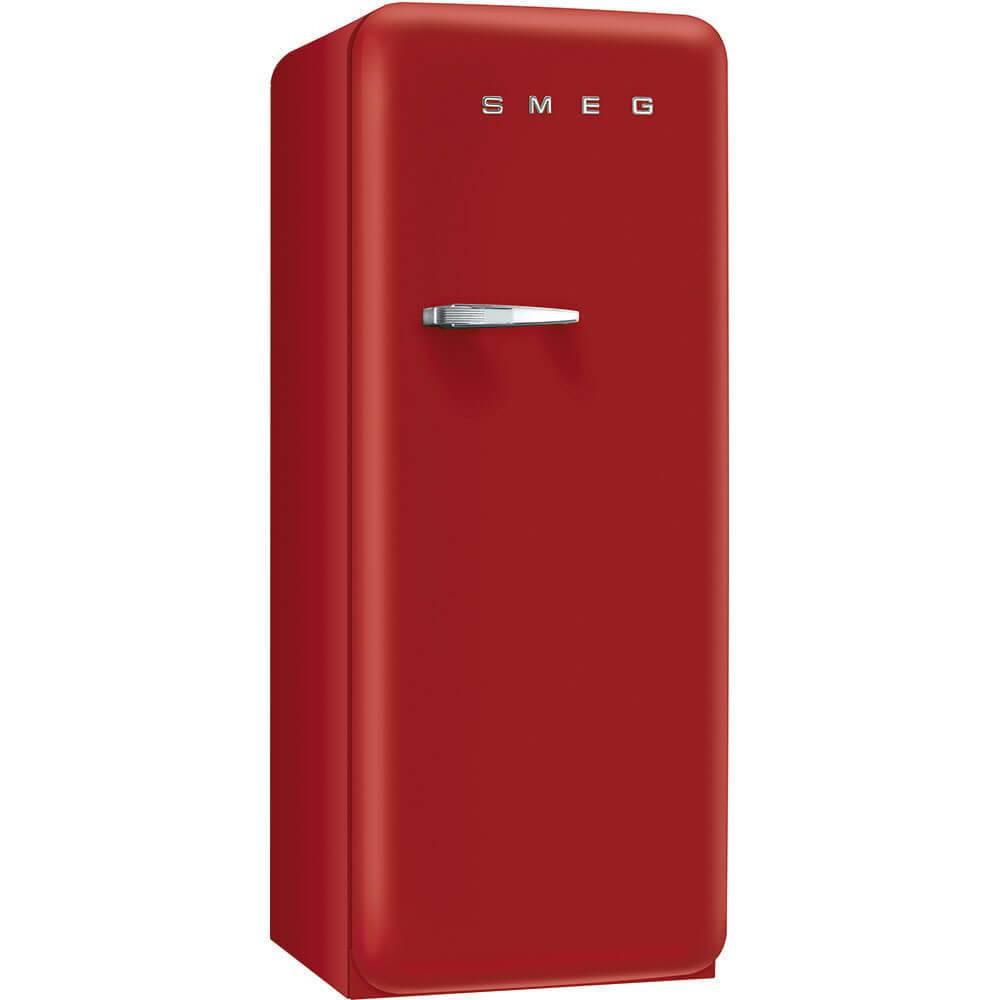 Smeg Standkühlschrank FAB28RRV1 50`s Retro Style 4**** Gefrierfach Energieeffizienzklasse A++ Rechtsanschlag Red Velvet 60cm
