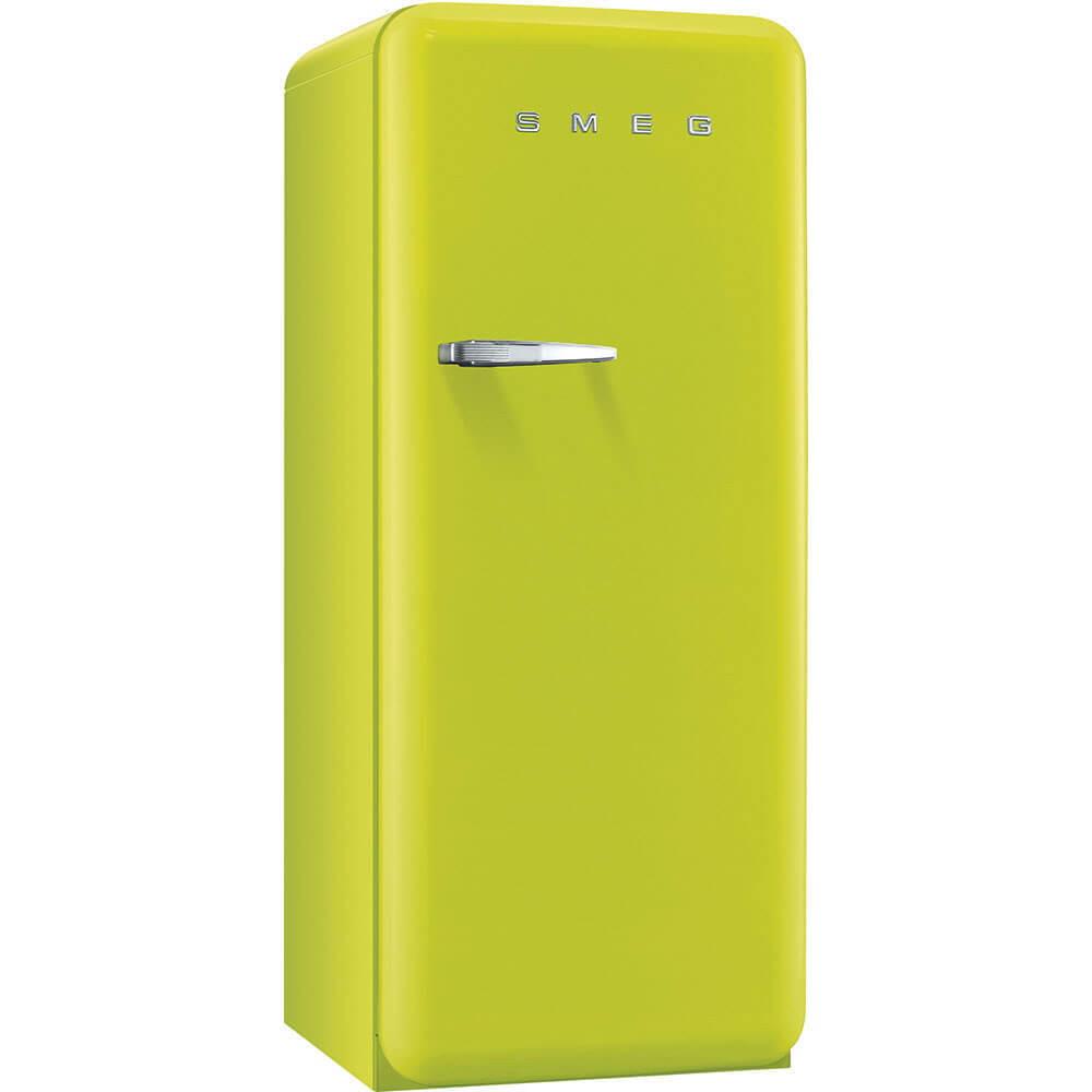 Smeg Standkühlschrank FAB28RVE1 50's Retro Style 4**** Gefrierfach Energieeffizienzklasse A++ Rechtsanschlag Apfelgrün 60 cm