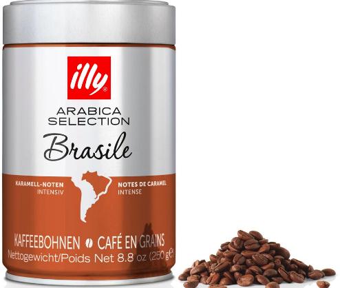 Illy Espressobohnen - Monoarabica Brasilien - 6 Dosen, 250gr.