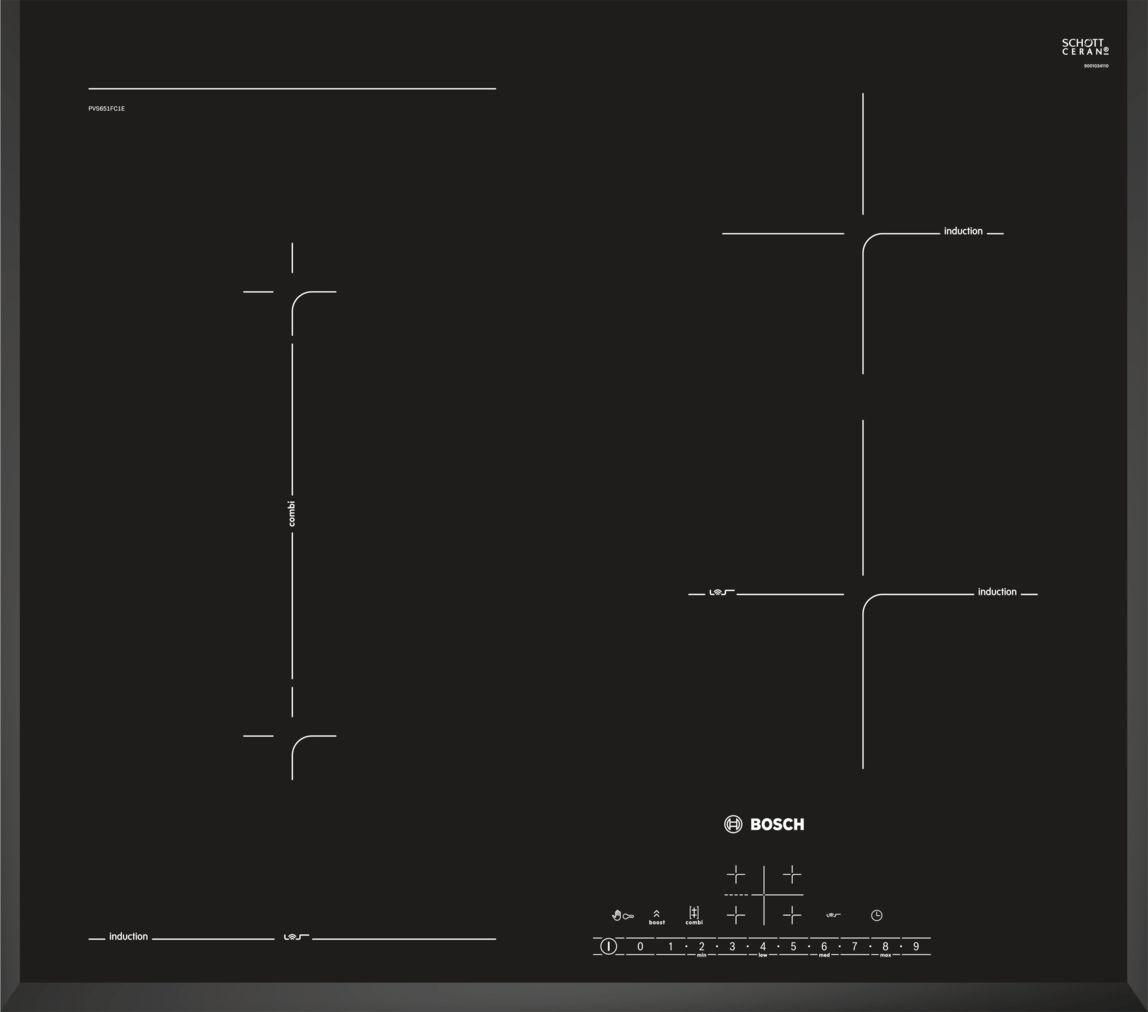 Siemens Glaskeramik-Kochfeld ET645NF17 autark 4 highSpeed-Kochzonen