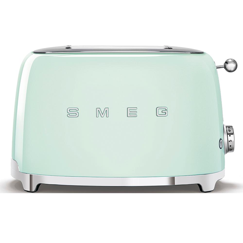 (CO2) SMEG 50's Retro Style, Toaster, 2 Scheiben, Pastellgrün, 6 Röstgradstufen, 3 Automatikprogramme, 950 W