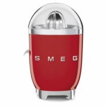 50's Retro Style Zitruspresse, Rot, Fruchtpresse, Filtersieb und Anti-Tropf-Auslauf aus Edelstahl, SMEG 3D-Logo, 70 W
