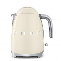 (CO2) SMEG 50's Retro Style, 1,7 L - Wasserkocher, Creme, Soft Opening Kannenverschluss, Anti-Kalkfilter, 2400 W