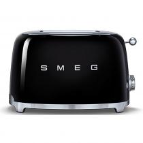 (CO2) SMEG 50's Retro Style, Toaster, 2 Scheiben, Schwarz, 6 Röstgradstufen, 3 Automatikprogramme, 950 W