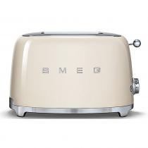 (CO2) SMEG 50's Retro Style, Toaster, 2 Scheiben, Creme, 6 Röstgradstufen, 3 Automatikprogramme, 950 W