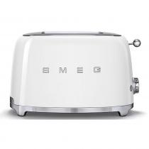 (CO2) SMEG 50's Retro Style, Toaster, 2 Scheiben, Weiß, 6 Röstgradstufen, 3 Automatikprogramme, 950 W