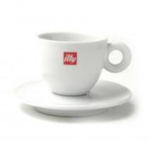 [합배송]  일리 로고 카푸치노 커피잔 2 인조 (소) 세트(잔2P, 받침2P)