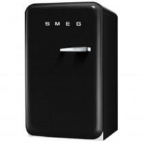 SMEG 50's Retro Style, Standkühlschrank mit 4****Gefrierfach, 60 cm Schwarz, Linksanschlag, Energieeffizienzklasse A+