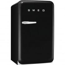 SMEG 50's Retro Style, Standkühlschrank mit 4****Gefrierfach, 60 cm Schwarz, Rechtsanschlag, Energieeffizienzklasse A+