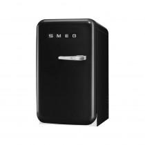 SMEG 50's Retro Style, Minibar Stand-Kühlschrank, 40 cm Schwarz, Linksanschlag, Absorber-Kühlsystem (Vibrations- und geräuschlos), Energieeffizienzklasse D