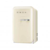 SMEG 50's Retro Style, Minibar Stand-Kühlschrank, 40 cm Creme, Linksanschlag, Absorber-Kühlsystem (Vibrations- und geräuschlos), Energieeffizienzklasse D