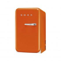 SMEG 50's Retro Style, Minibar Stand-Kühlschrank, 40 cm Orange, Linksanschlag, Absorber-Kühlsystem (Vibrations- und geräuschlos), Energieeffizienzklasse D