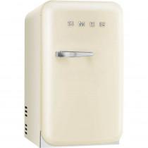 SMEG 50's Retro Style, Minibar Stand-Kühlschrank, 40 cm Creme, Rechtsanschlag, Absorber-Kühlsystem (Vibrations- und geräuschlos), Energieeffizienzklasse D