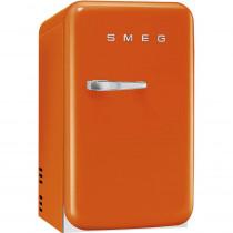 SMEG 50's Retro Style, Minibar Stand-Kühlschrank, 40 cm Orange, Rechtsanschlag, Absorber-Kühlsystem (Vibrations- und geräuschlos), Energieeffizienzklasse D
