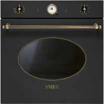 Smeg Einbaubackofen SFP805AO Antik-Design Anthrazit-Messing 60 cm