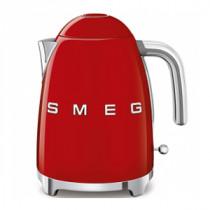 (CO2) SMEG 50's Retro Style, 1,7 L - Wasserkocher, Rot, Soft Opening Kannenverschluss, Anti-Kalkfilter, 2400 W