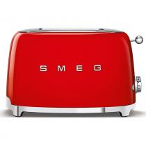 (CO2) SMEG 50's Retro Style, Toaster, 2 Scheiben, Rot, 6 Röstgradstufen, 3 Automatikprogramme, 950 W