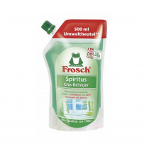 6 x Frosch Spiritus Glas-Reiniger , 500 ml - Nachfüllbeutel