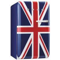 Smeg 50's Retro Style, Standkühlschrank mit 4****Gefrierfach, 60 cm, Union Jack, Linksanschlag Energieeffizienzklasse A+