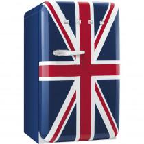 Smeg 50's Retro Style, Standkühlschrank mit 4****Gefrierfach, 60 cm, Union Jack, Rechtsanschlag Energieeffizienzklasse A+
