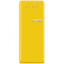 Smeg Standkühlschrank FAB28LG1 50's Retro Style 4**** Gefrierfach Energieeffizienzklasse A++ Linksanschlag Sonnengelb 60 cm