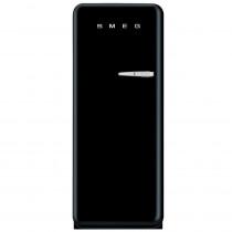 Smeg Standkühlschrank FAB28LNE1 50's Retro Style 4**** Gefrierfach Energieeffizienzklasse A++ Linksanschlag Schwarz 60 cm