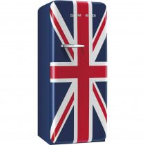 Smeg Standkühlschrank FAB28RUJ1 50`s Retro Style 4**** Gefrierfach Energieeffizienzklasse A++ Rechtsanschlag Union Jack 60cm